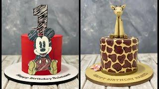 Mini Cake Design Ideas   Mickey Mouse Cake   Giraffe Cake