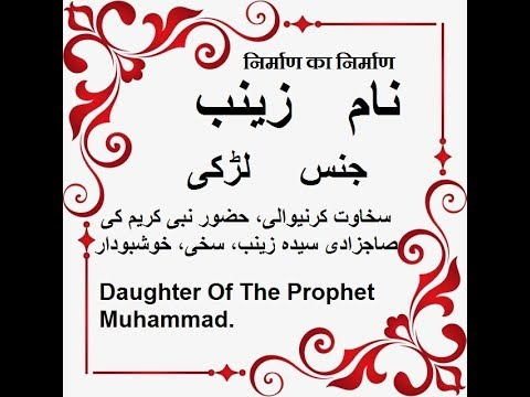 Meaning of zainab word