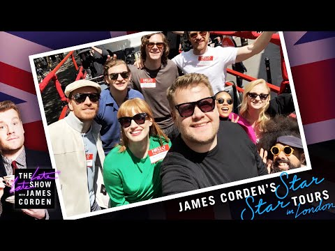 'Dark Phoenix' Cast Tours London in a Double Decker - #LateLateLondon
