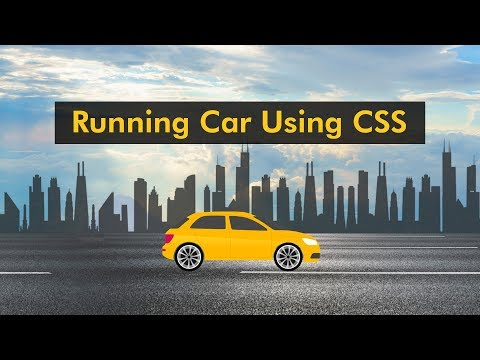 How To Make Website With Animation | Moving Car Using CSS Animation