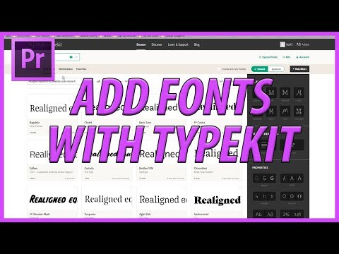How to Add Fonts using Typekit in Adobe Premiere Pro CC