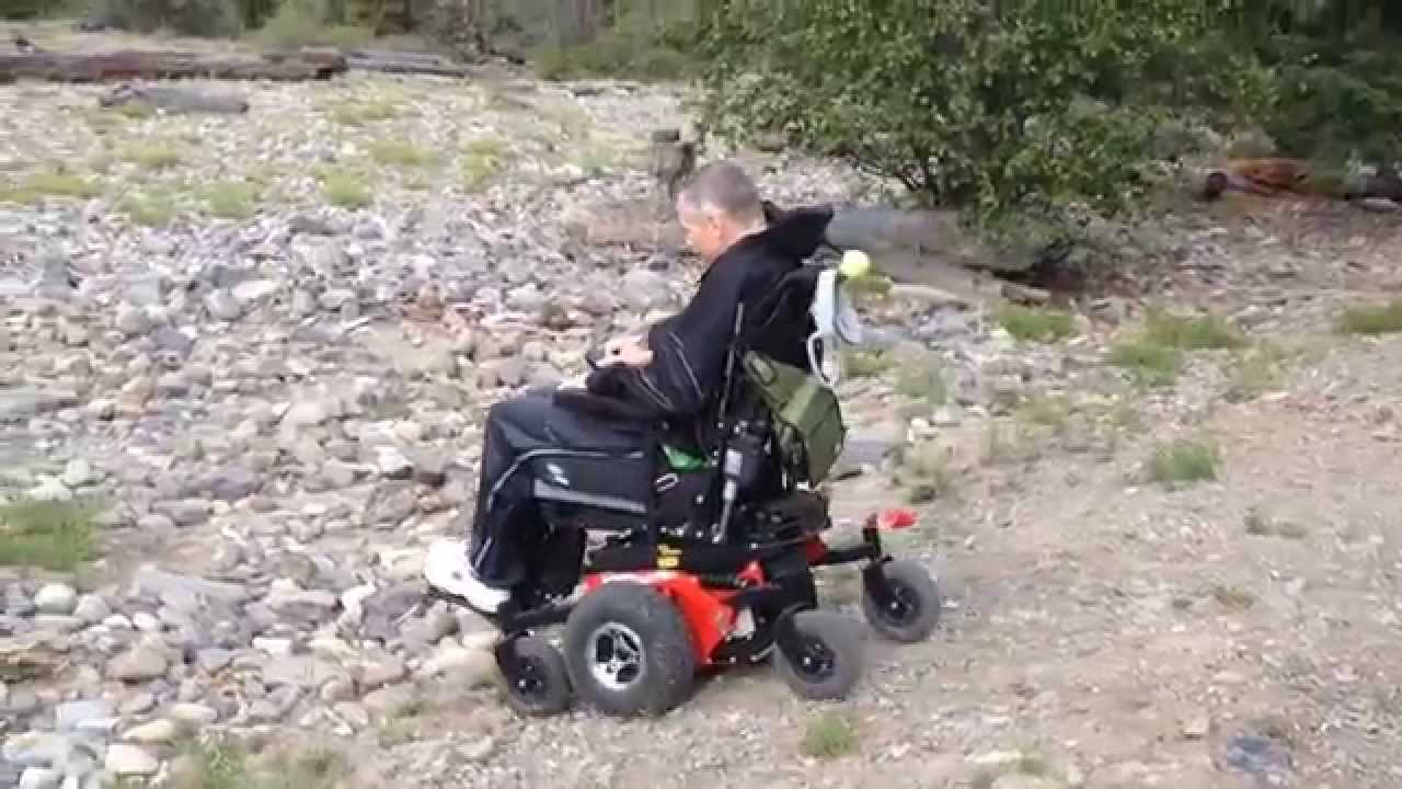 All Terrain Electric Wheelchair Thomas Train Chair Frontier V6 At Hits The Off Road Youtube