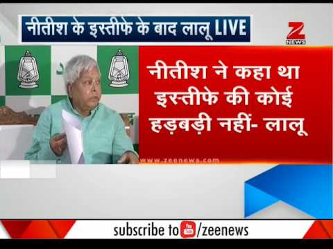 This is what RJD Chief Lalu Prasad Yadav said after Nitish Kumar resigned