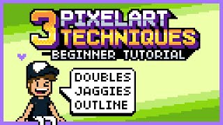 3 PixelArt Techniques/Common Mistakes (Doubles, Jaggies & Outline) (Tutorial for Beginners)