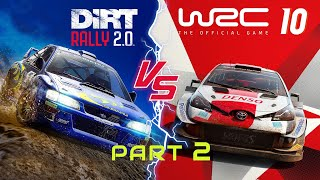 WRC 10 vs Dirt Rally 2.0 Part 2 [Physic Damage Stages Cars]