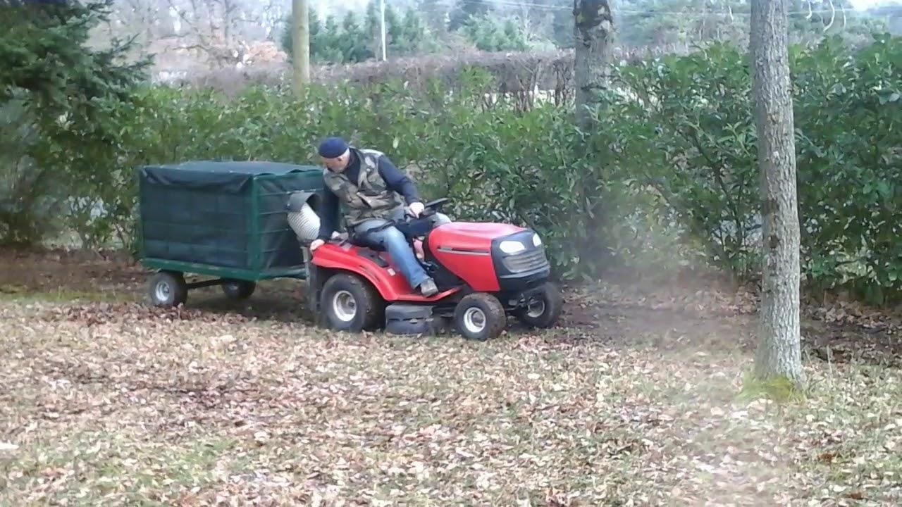 remorque pour ramasser les feuilles avec tracteur tondeuse. Black Bedroom Furniture Sets. Home Design Ideas