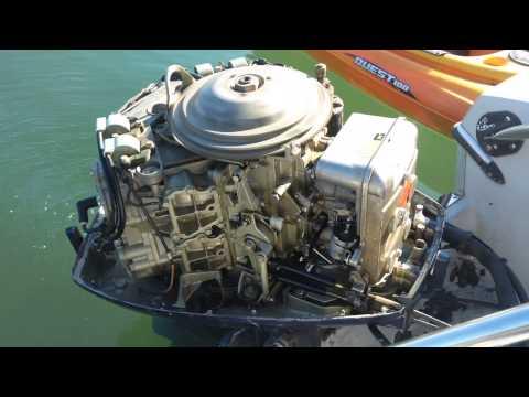 1975 Evinrude 115 IDLE - YouTube