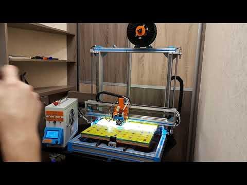 Большой качественный 3D Принтер своими руками Arduino Due 32 Bit RURAMPS 4D 1 3