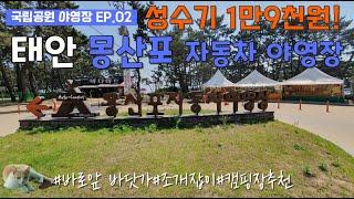 [태안몽산포자동차야영장]19,000원에행복!/몽산포해수…