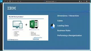 Demo: Build IBM Planning Analytics Applications