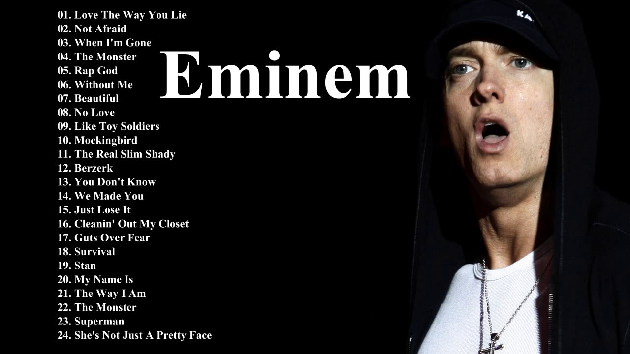 Eminem topped the list of performers with the largest lexicon 07/24/2015