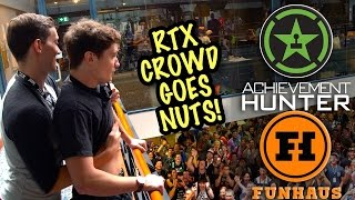 RTX Crowd Goes NUTS for Achievement Hunter, Funhaus, Rooster Teeth… #RTXAU