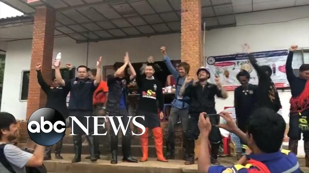 Thai boys soccer team and coach rescued from cave