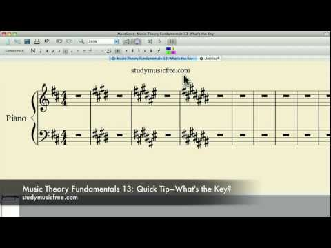 Music Theory Fundamentals 13: Quick Tip — How to Tell What Key Your In