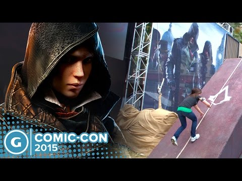 Assassin's Creed Syndicate Evie Fyre Crushes Obstacle Course!  Comic Con 2015