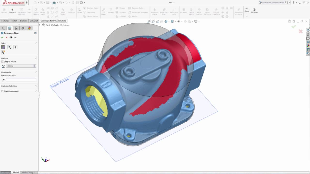 Geomagic for Solidworks - Creating A Solid CAD Model From A 3D Model