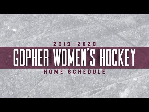 2019-20 Gopher Women's Hockey Home Schedule