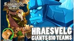 SUMMONERS WAR : Giants B10 Teams with Hraesvelg the Wind Barbaric King