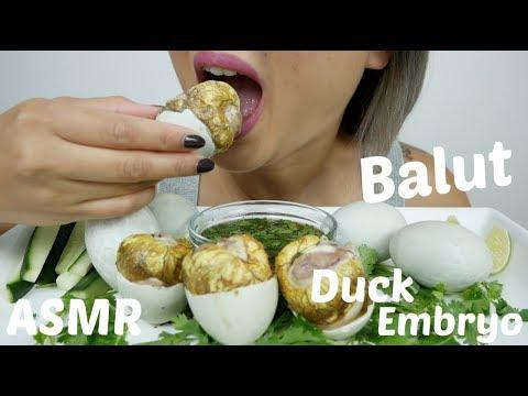 BALUT Duck Egg Embryo CHALLENGE | ASMR Eating Sounds | N.E Let's Eat