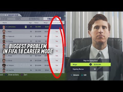 THE BIGGEST PROBLEM IN FIFA 18 CAREER MODE!!!