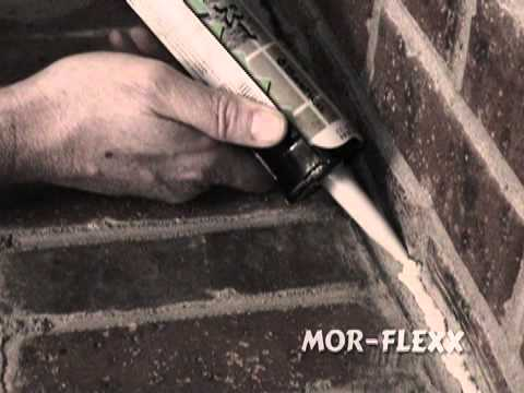 Scott from Sashco Inc. shows you how to use Mor-flexx® textured caulk to repair cracked mortar in a fireplace. Mor-flexx stretches and
