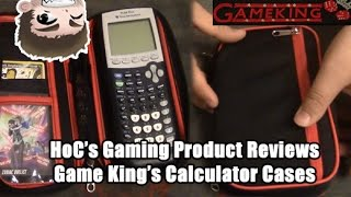 Game King's Premier Calculator Case (First Readily Available Online in Years!) Black & Red Design