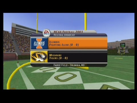 NCAA Football 2003:  Season Game 1:   Illinois at Missouri