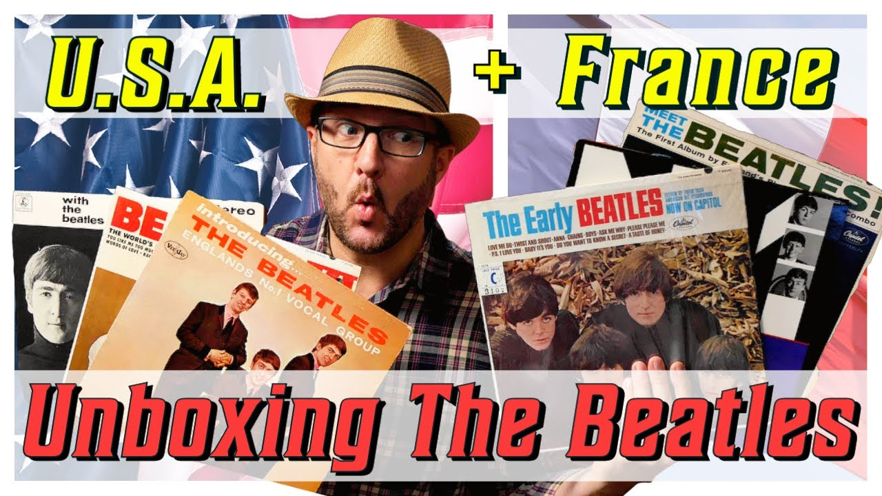 UNBOXING Vintage BEATLES Vinyl Albums from U.S.A. & FRANCE