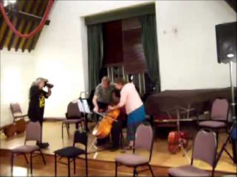 Habanera for Cello Four Hands!  Hysterical!  Three people, one cello.  From Carmen, by Bizet