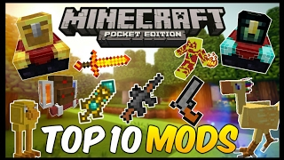 TOP 10 MODS PARA MINECRAFT PE 1.2 !!