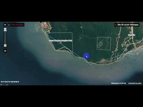 Máy bay rơi trên đảo Hải Nam Trung Quốc nhìn từ wikimapia