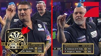 Quali-Runde: Peter Wright vs. Gary Anderson | Promi Darts WM 2019 | ProSieben
