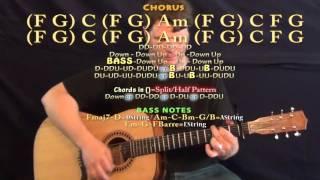 Little Red Corvette (Prince) Guitar Lesson Chord Chart - Capo 1st - F G C Am