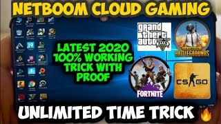 NETBOOM CLOUD GAMING UNLIMITED TIME TRICK ? | LATEST 2020 WORKING TRICK WITH PROOF | GTA 5 ANDROID