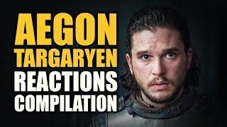 Game of Thrones AEGON TARGARYEN Reactions Compilation
