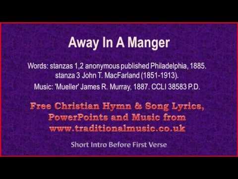 Away In A Manger(MP47) - Christmas Carols Lyrics & Music