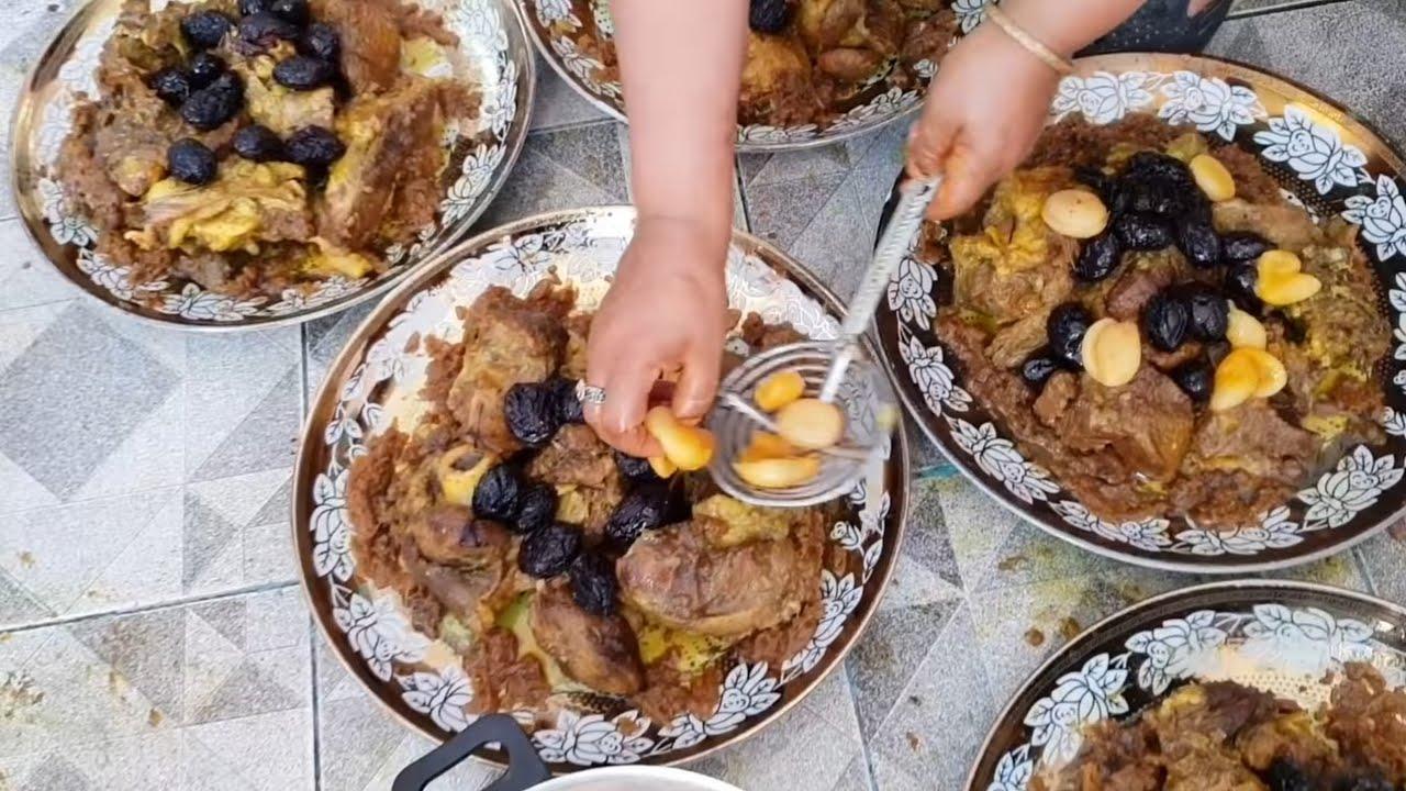 اللحم بالبرقوق و المشمش ! أطباق الأعراس و المناسبات المغربية