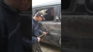 Ремонт бочины спотером хундай ш 200