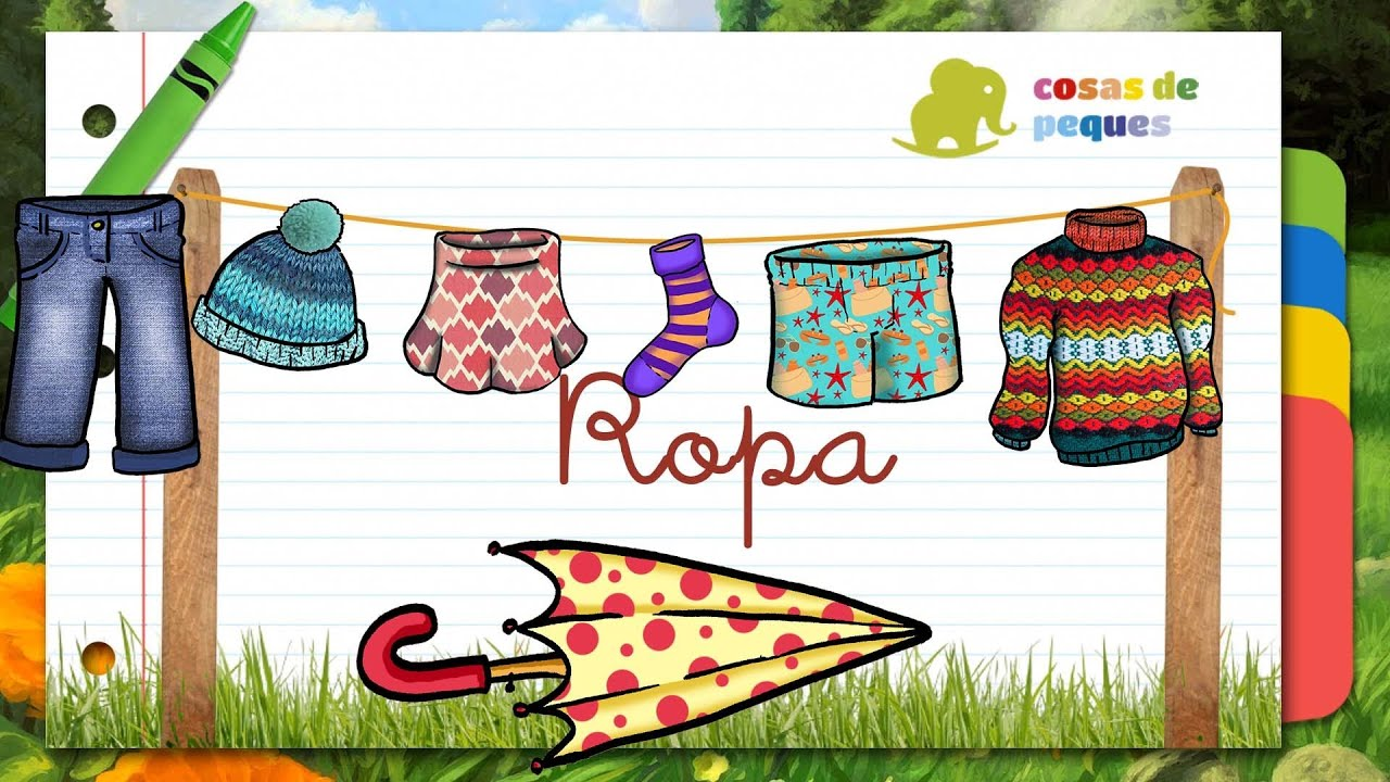 Put Away Clothes En Espanol ~ Ropa en espaÑol para niños youtube