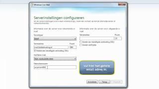 email account instellen in Windows Live Mail