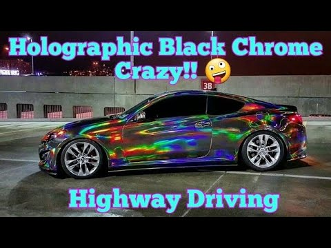 Holographic Chrome Car Holographic Chrome Vinyl Wrap By
