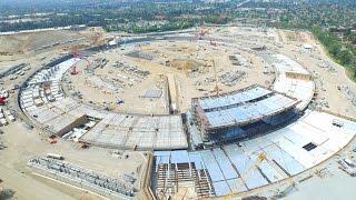 Apple Campus 2 construction video - April 2015 - building going up