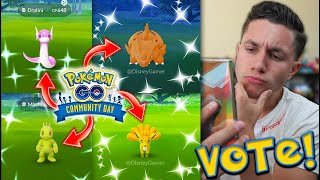 FIRST TIME IN POKÉMON GO HISTORY YOU DECIDE! February Community Day SHINY VOTE!