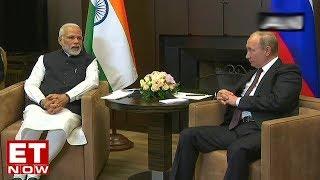 PM Modi Meets Vladimir Putin In Sochi
