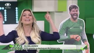 Renata Fan comemora vitória de Alisson como melhor goleiro