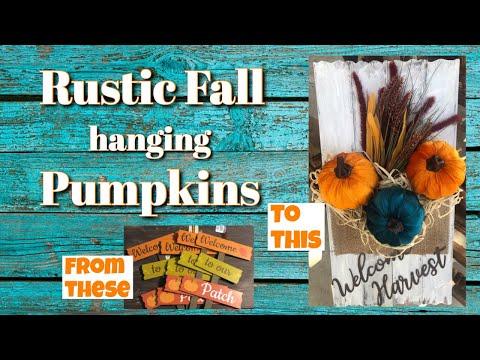 DIY | Dollar Tree | Rustic Farmhouse Fall Decor