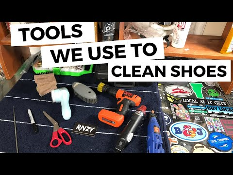 Tools We Use To Clean Shoes | Full Time Shoe Resellers | Poshmark & Mercari | RNZY
