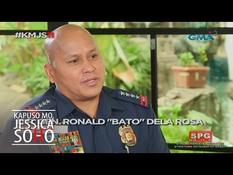 "Kapuso Mo, Jessica Soho: Getting personal with PNP chief Ronald ""Bato"" dela Rosa"
