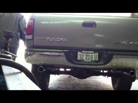 Toyota Tundra Exhaust >> 2002 Toyota Tundra with Flowmaster Dual Exhaust - YouTube