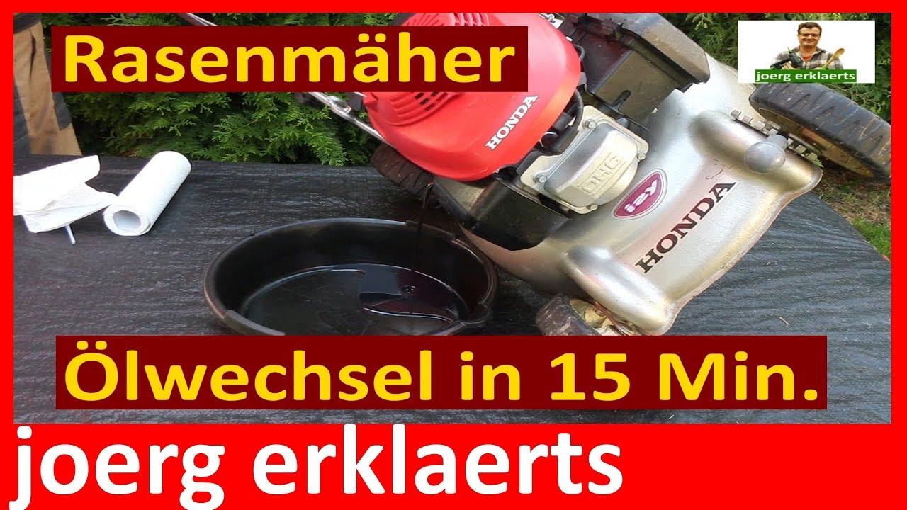 Rasenmäher service  Rasenmäher Ölwechsel - ohne Service.... selbst gemacht Tutorial Nr ...